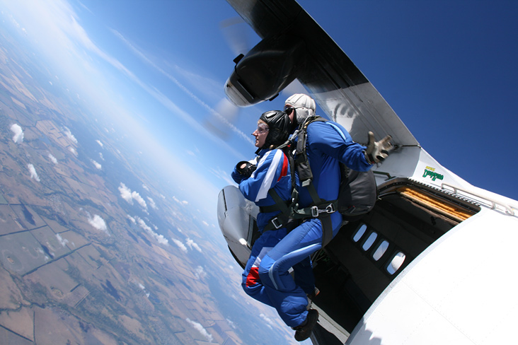 прыжки с парашютом тандем