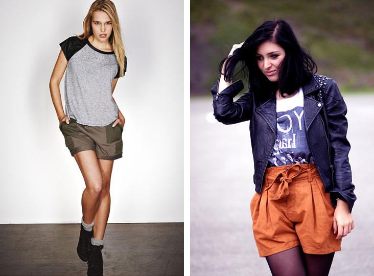 Тренд осени 2011 - Трикотажные шорты