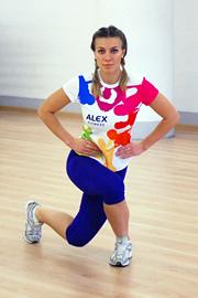 комплекс упражнений для ног: диагональные выпады назад