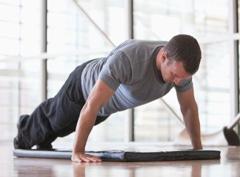 Комплекс упражнений для дома, отжимания