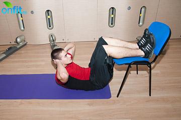 Комплекс упражнений для дома: скручивания