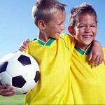 Финальные игры чемпионата по футболу среди детей