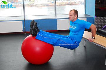 Упражнения на трицепс: отжимания спиной к скамье, усложненный вариант