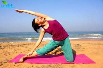 Йога для плоского живота - поза перекладины.