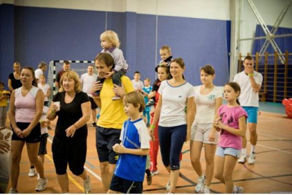 Дружная семейка в фитнес-клубе World Class Пушкинский