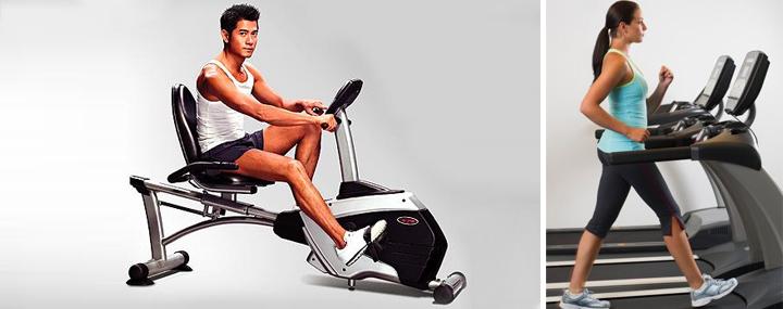 При болях в спине допустима ходьба и тренировка на велотренажере с поясничным упором