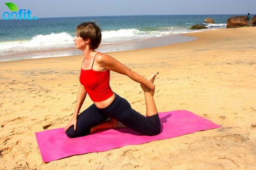Йога для стройных ног – Поза голубя