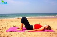 Йога для стройных ног – Поза полумоста