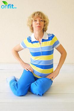 Спиральная гимнастика: упражнение 7. Нейтровращения бедрами, сидя на полу