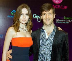Президент Управляющей Компании Фитнес Холдинг Александ Половиткин с женой Ладой Кравченко