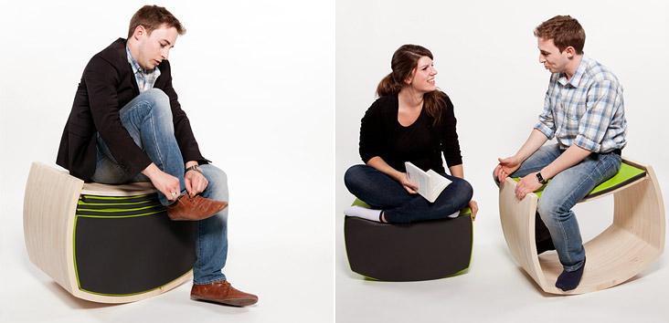 Оригинальный стул для фитнеса Jopple, использование которого даже в повседневных делах превращается в эффективную тренировку