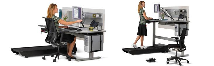 Рабочий стол совместили с беговой дорожкой — и получилась многофункциональная система Sit to Walkstation.