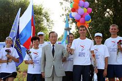 Самая протяженная факельная эстафета проходит по территории России