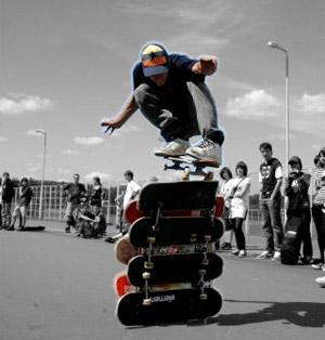 летние виды спорта - скейтбординг