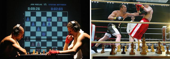 Шахбокс - Игра-поединок заключается в чередовании шахматной партии и поединка на ринге.