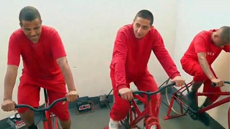 В Бразилии заключенных перевоспитывают с помощью велотренажеров