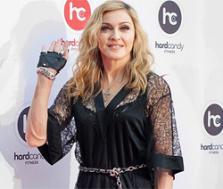 Мадонна на открытии фитнес-клуба Hard Candy