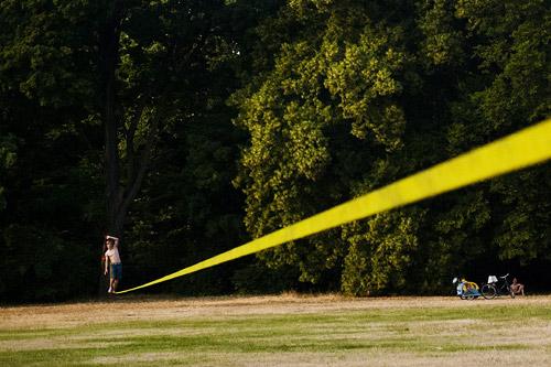 Лонглайн (Long Line — длинная лента) — здесь основной целью является преодолеть длинную дистанцию от начала до конца. Дистанция может достигать до 100 и более метров.