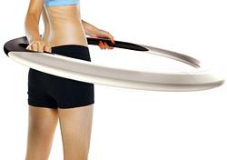 Оригинальное фитнес-изобретение: хула-хуп, который стирает!