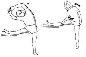 Упражнение с использованием опоры