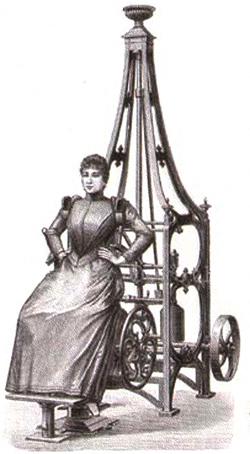 Он создал специальные тренажеры для беременных, да и на другие свои устройства установил так называемые «женские седла».