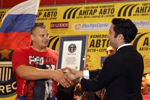 Российский спортсмен попал в книгу рекордов Гиннеса