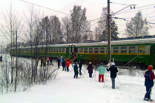 Бесплатные электрички для лыжников в Петербурге