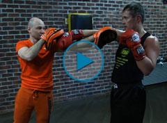Уроки бокса: Прием защиты «сайд-степ»
