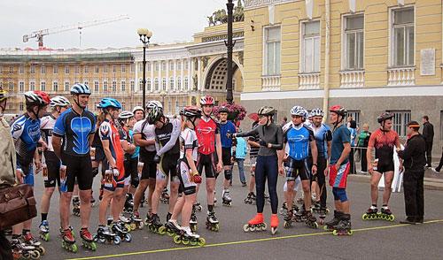 Роллер-эстафета по центру Петербурга
