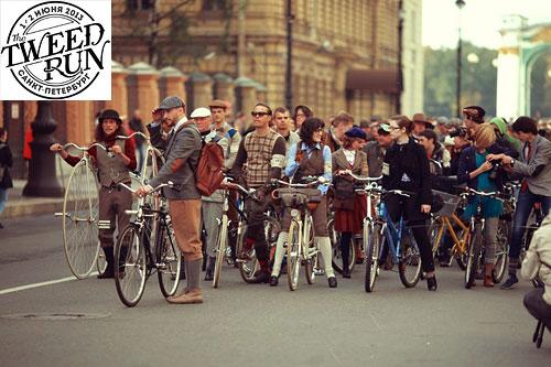 Твидовый велопробег в Петербурге