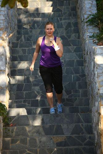 Аэробная часть: бег с препятствиями 20 минут