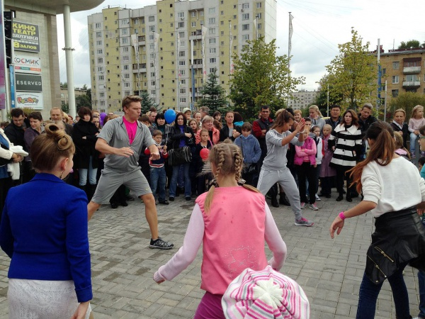Сеть фитнес-клубов «Территория Фитнеса» поздравила москвичей и гостей столицы с Днем города!