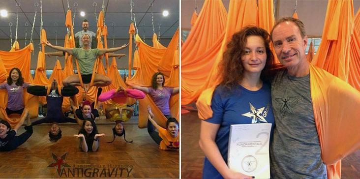 Инструктор «Фитнес-центра 100%» по Antigravity Yoga Симашкина Есения вернулась с обучения в северном Тайланде