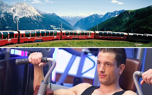 В Швейцарии начнут ходить поезда с фитнес-вагонами