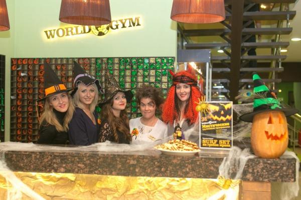 Хэллоуин в фитнес-клубе World Gym Барклая!