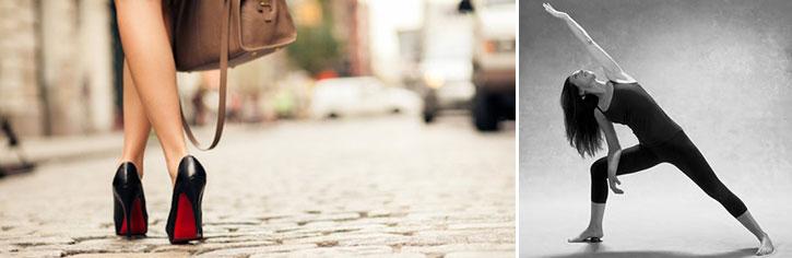 В США йоги учат женщин ходить на каблуках