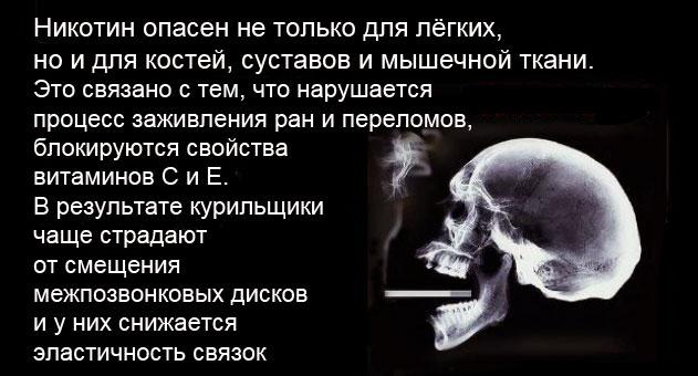 Курение против роста мышц