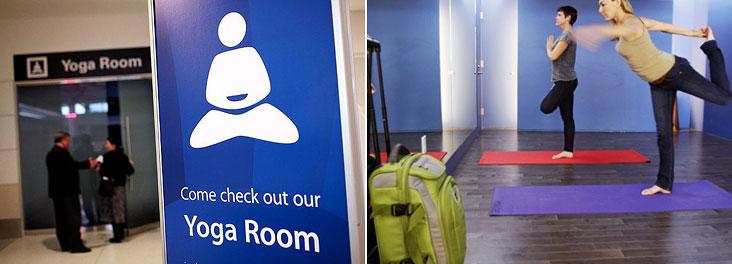 В аэропортах США появились йога-комнаты