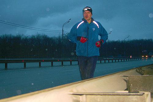 Дмитрий Ерохин пробежал уже половину пути до Сочи