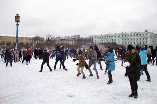 «Снежная битва» в Петербурге