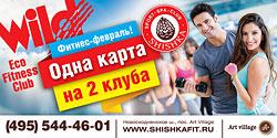 Фитнес-февраль! Одна карта на 2 клуба — Shishka и Wild Eco Fitness Club!