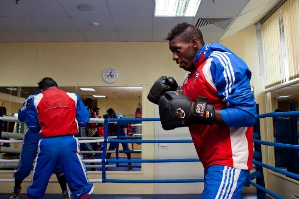 Тренировка кубинской сборной по боксу в клубе «Марк Аврелий»