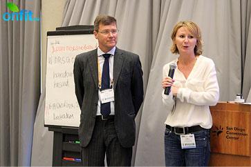 представитель IHRSA в России Лейла Тимергалеева и директор IHRSA в Европе Ханс Мюнх