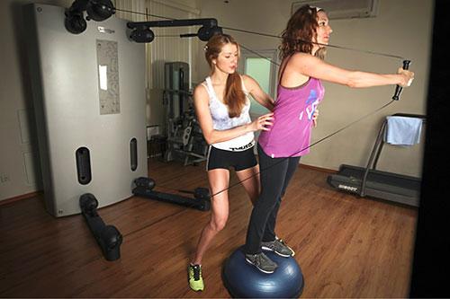 Упражнение 5: Жим вперед на босу