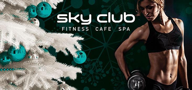 Клубные карты по новогоднему в Sky Club