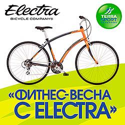 Фитнес-центр Terrasport Коперник и компания Electra представляют специальную акцию «Фитнес-весна с Electra»