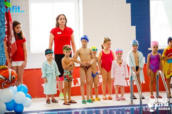 Детские соревнования по плаванию в World Gym Вешки 2015!