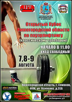 Открытый кубок Нижегородской области по пауэрлифтингу