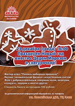 Празднуем Новый год вместе с дедом Морозом и Снегурочкой в клубе «Зебра Енисейская»!