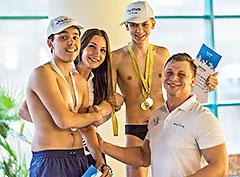 Соревнования по плаванию в фитнес-клубе Sky Club